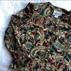 Vintage Paisley Blazer/ Cardigan w/ golden Buttons